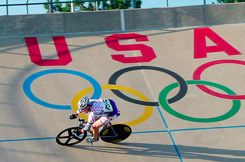 Colorado Springs Velodrome Olympic Rings